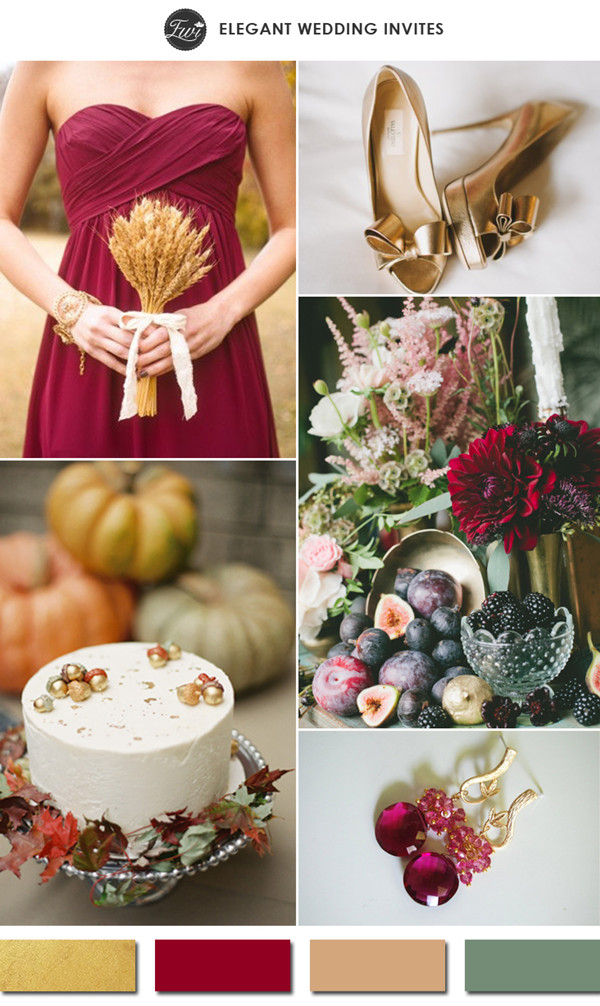 gold-and-burgundy-red-fall-wedding-color-ideas-2015-trends