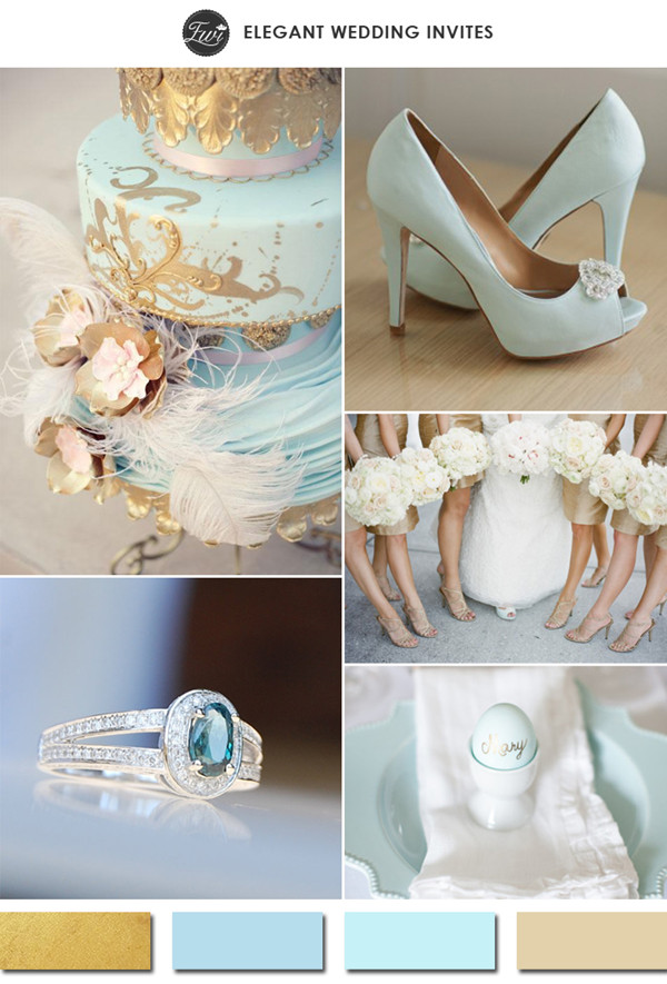 light-blue-and-gold-wedding-color-ideas-for-2015-spring-summer-weddings