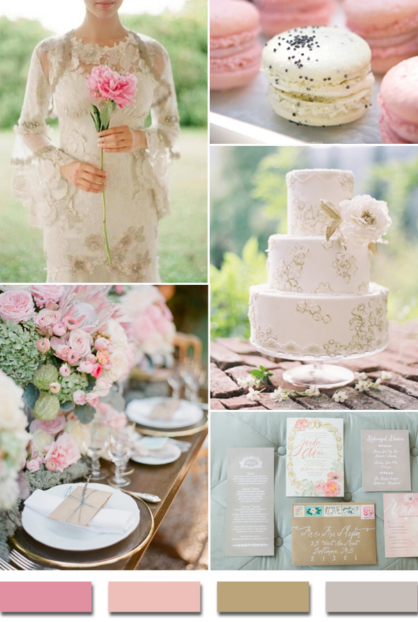 shades-of-pink-kahki-nude-and-gray-2015-trending-wedding-color-ideas