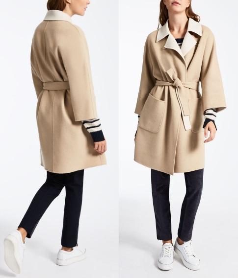 шерстяное двухстороннее пальто Пальто Max Mara 2017