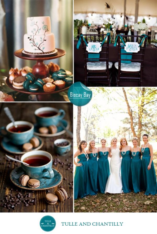 Biscay bay blue wedding color ideas fall 2015 pantone