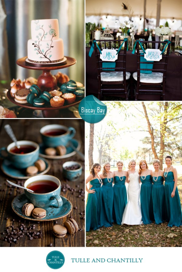 Biscay bay blue wedding color ideas fall 2015 pantone