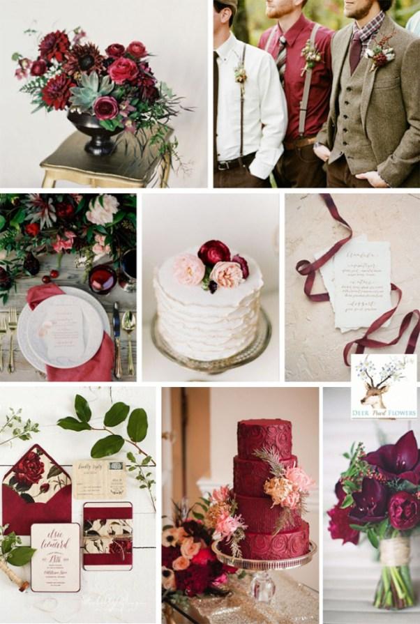 Marsala cvet svadba osen 2015