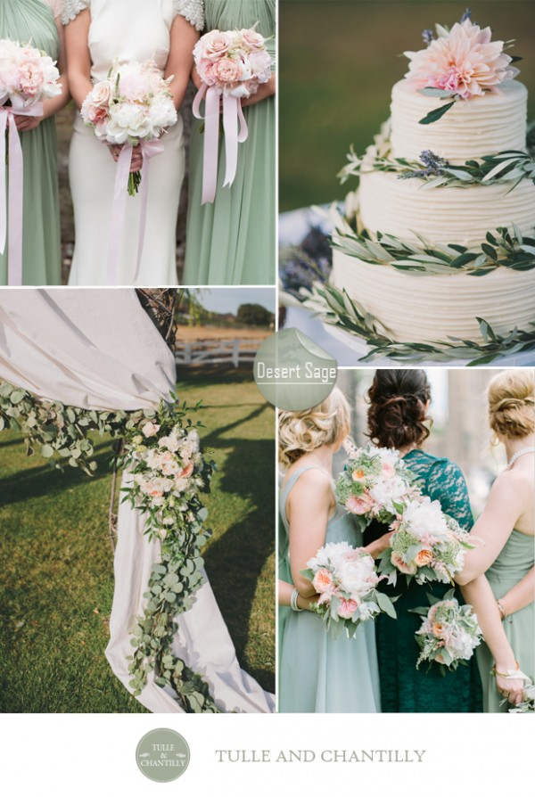 desert sage green wedding color ideas fall 2015 pantone