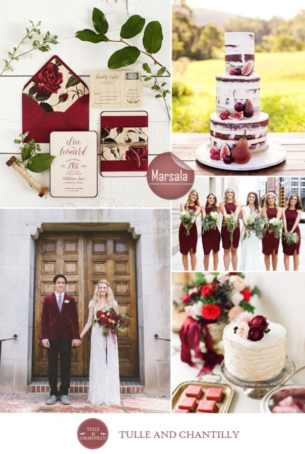 marsala wedding color ideas fall 2015 pantone
