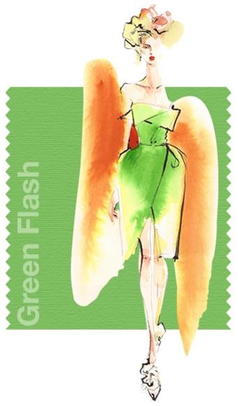 Pantone Fashion color report SS 2016 Green Flash