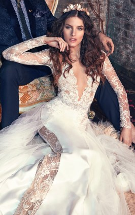 sophisticated-deep-v-neck-Galia-Lahav-wedding-dresses-Les-Reves-Bohemians-collection-Tiger-Lily