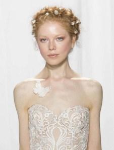 Reem Acra свадебная мода 2017 свадебные прически