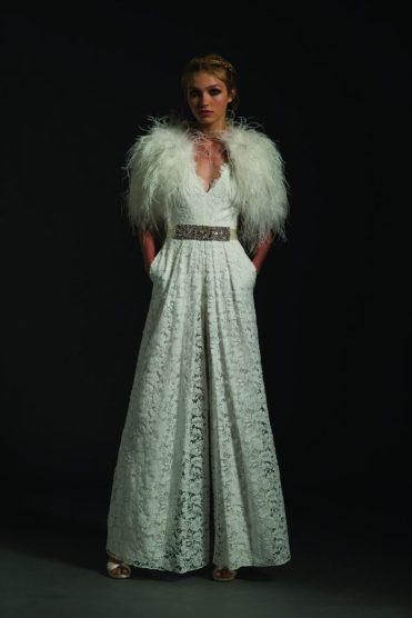 свадебное платье temperley London 2017 c перьями