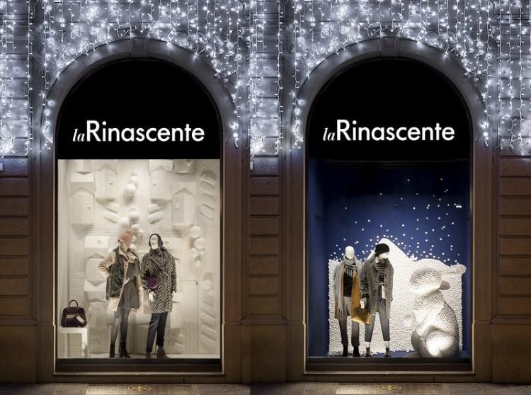 Rinascente витрины в Милане