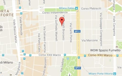 аутлет в Милане Сальваженте на карте