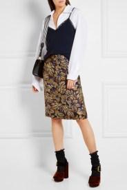 Prada блестящая юбка осень 2016