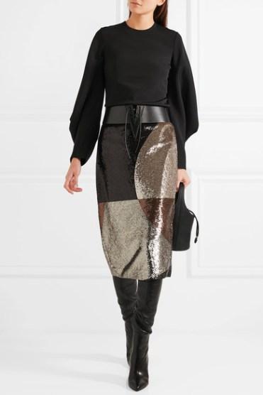 Tom Ford блестящая юбка осень 2016