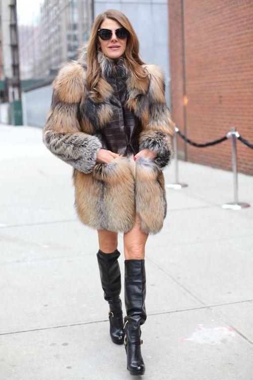 Анна делла руссо в модной шубе