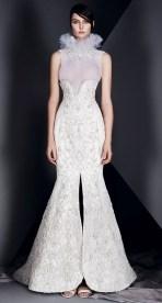 свадебное платье рыбка с разрезом впереди юбкой Ashi Haute Couture Spring Summer 2017