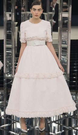 Chanel couture spring 2017 wedding dress
