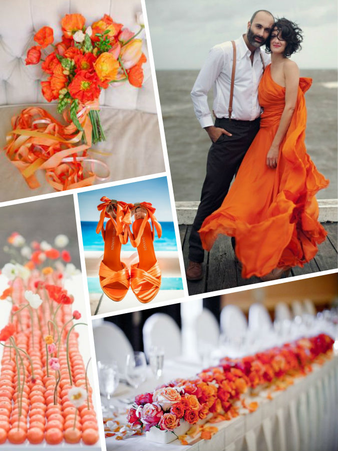 Color wedding 2017 Flame pantone