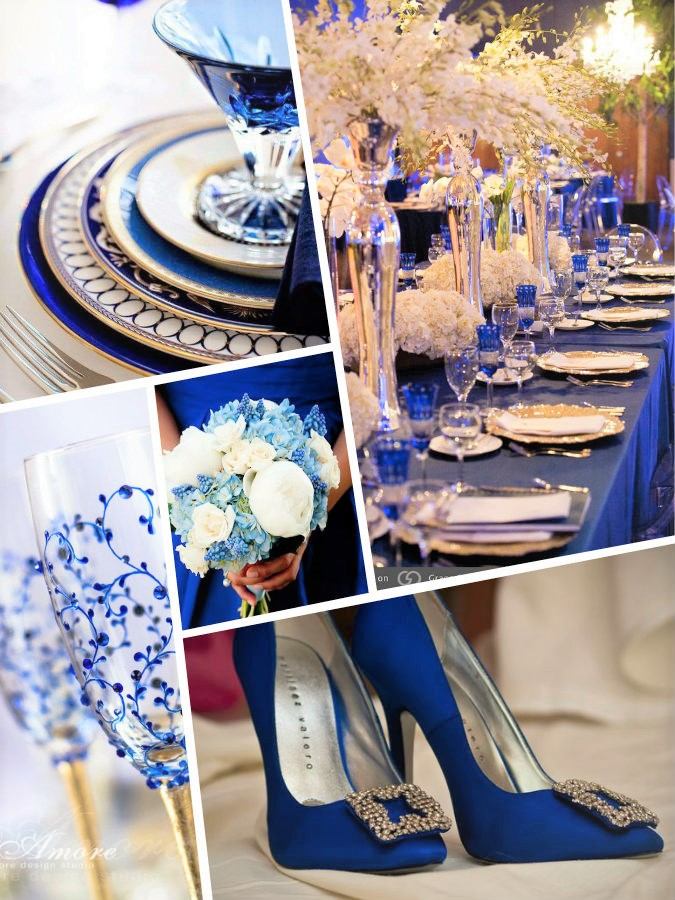 Lapis blu Pantone color wedding 2017