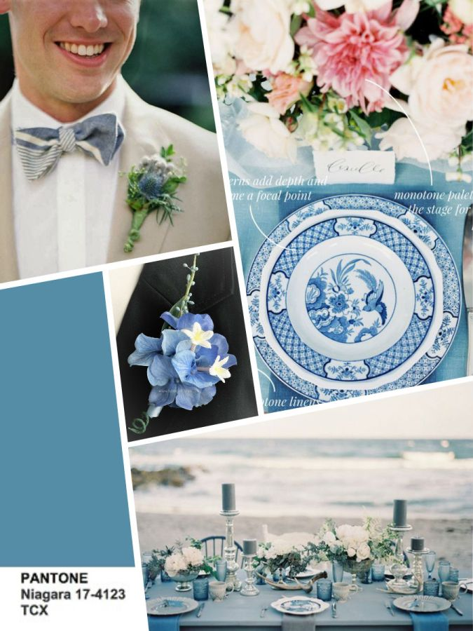 Pantone Niagara 2017 wedding color
