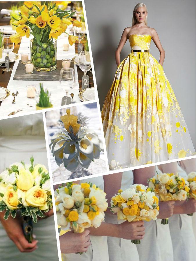 Желтый PANTONE 13-0755 Primrose Yellow color wedding