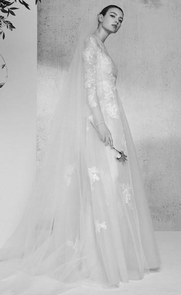 Elie Saab bridal 2018 свадебное платье вышивка длинный рукав