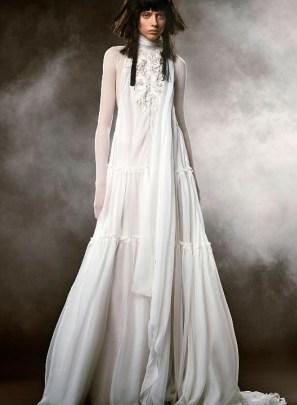 свадебное платье Vera Wang Spring 2018 длинные рукова
