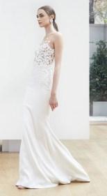 свадебное платье объемной вышивкой 3-Д на сетке -Oscar de la Renta Spring 2018 Wedding