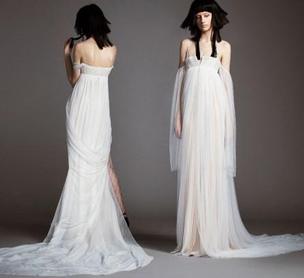 свадебное платье Vera Wang Spring 2018 стиль ампир