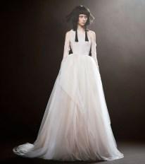 свадебное платье широкая юбка корсет из тюля Vera Wang Spring 2018