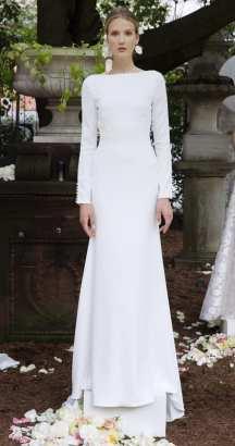 свадебное платье в стиле минимализм 2018 Lela Rose