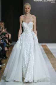 модные свадебные платья тенденции 2018 Mark Zunino