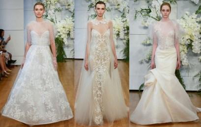 модные свадебные платья с накидкой и кейпом Monique Lhuillier 18