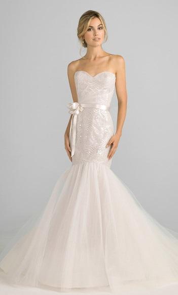 свадебное платье 2018 рыбка с поясом
