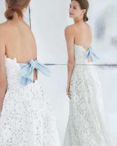 Carolina Herrera модное свадебное платье 2018 с бантом