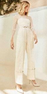 свадебный комплект с брюками и поясом Danielle Frankel