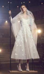 тенденция 2018 свадебное платье укороченное Elie Saab