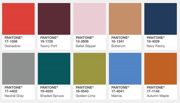 Институт цвета pantone 2017 официальный сайт