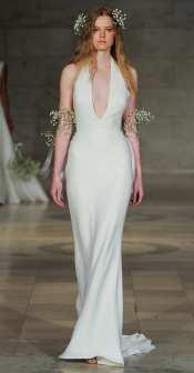 свадебное платье в стиле минимализм 2018 Reem Acra