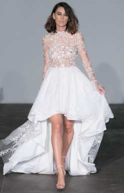 тенденция 2018 короткое свадебное платье Rime Arodaky