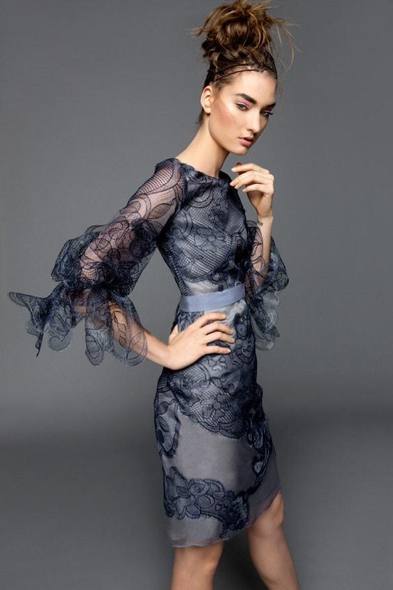 кружевное коктельно платье модное