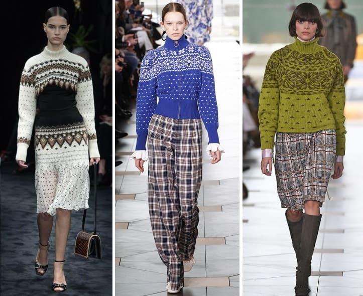 самые модные пуловеры осень и зима 2017 18 дыжные с узорами 2018