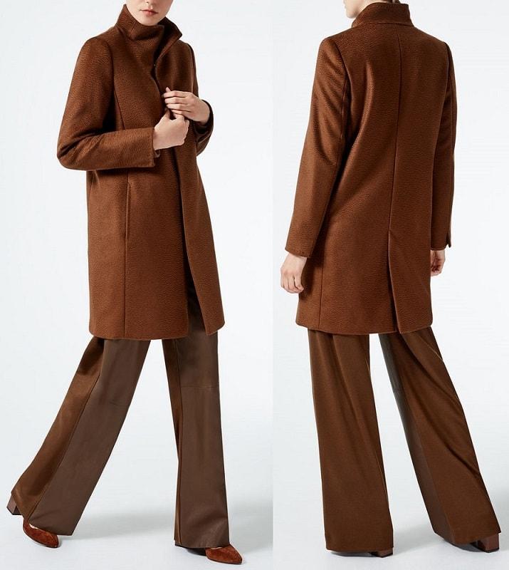 красивое пальто Макс Мара мужского кроя осень 2017
