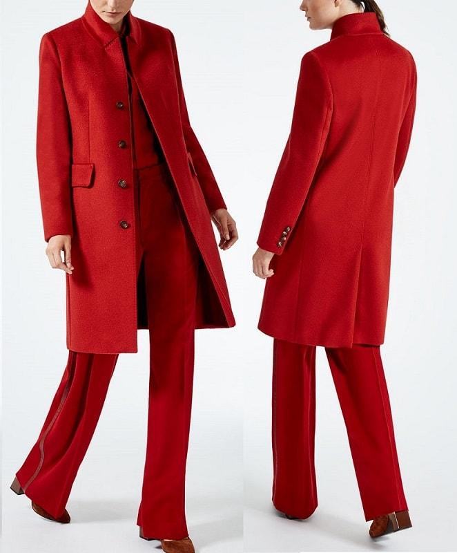 красное пальто Макс Мара из чистой верблюжьей шерсти – настоящий модный тренд сезона осень-зима 2017/17