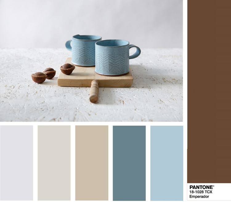 color combination PANTONE 18-1028 Emperador - Эмперадор