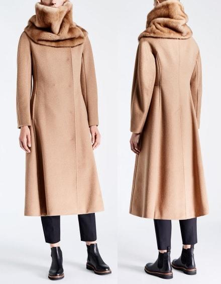 пальто Макс Мара из верблюжей шести осень 2017