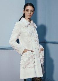 красивая модная шуба из стриженой норки белая Фернди 2017 2018