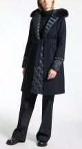 пальто и пуховик Макс Мара синий декоративные манжеты