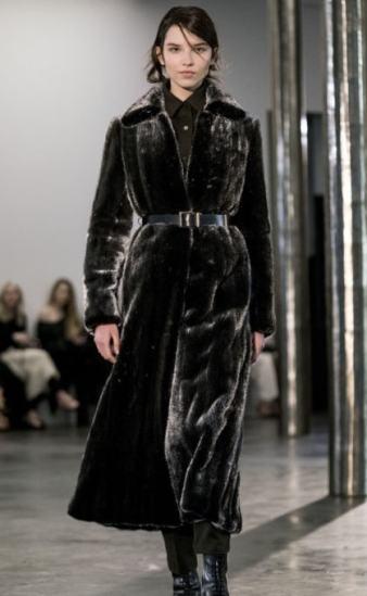 модная классическая шуба длинная под пояс зима 2017 2018