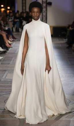 свадебное платье белое с накидкой свадебное платье Giambattista Valli 2018