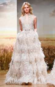 самое красивое платье 2018 Ziad Nakad Couture SS18 вышивка с перьями